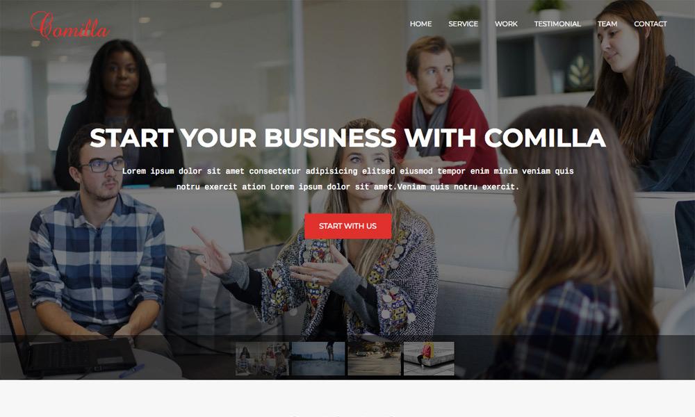 Comilla - Digital Agency One Page Business Joomla Theme