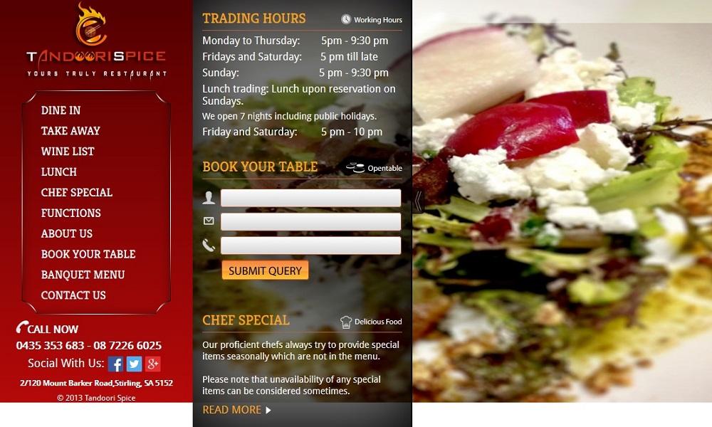 Indian Restaurant in Adelaide Hills