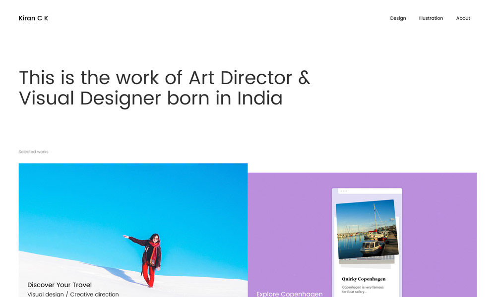 Kiran c k – Design & Creative Direction