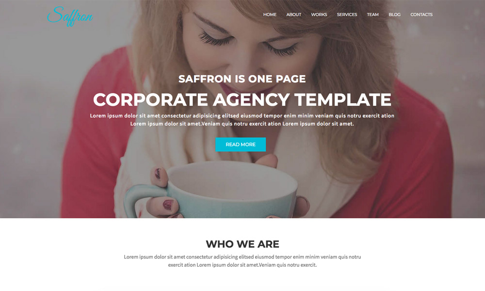 Saffron - Corporate Agency Responsive Joomla Theme With Page Builder
