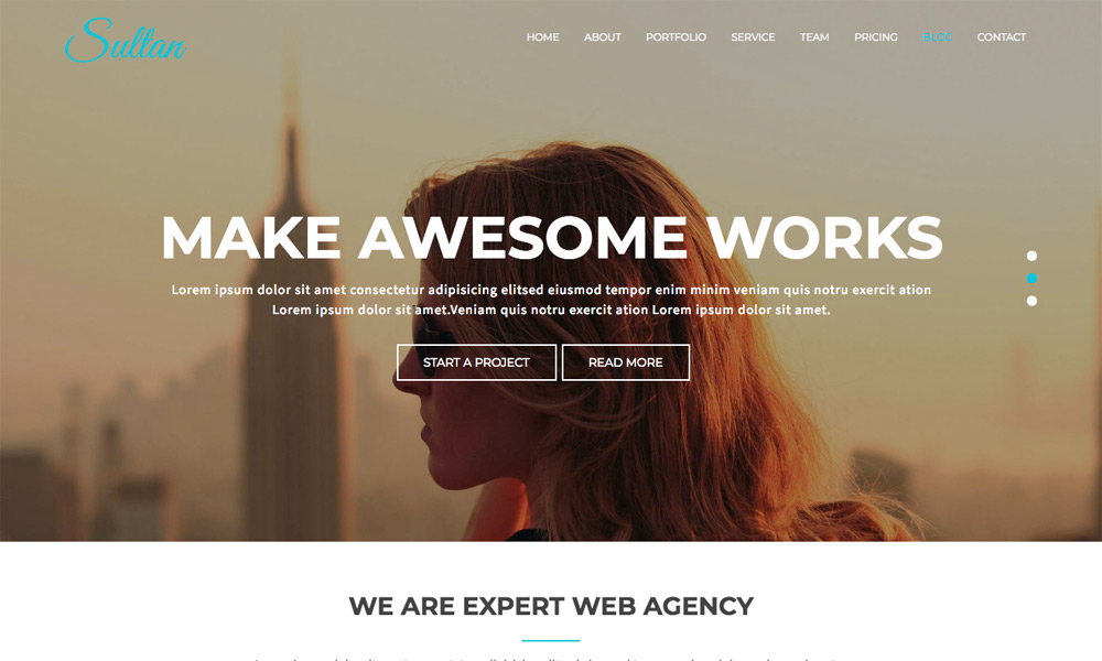 Sultan - One Page Business Multi-Purpose Joomla Theme