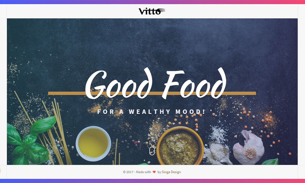 Vitto - Restaurant & Cafe WordPress Theme