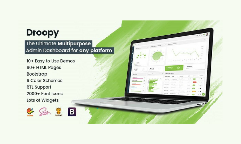 Droopy - Multipurpose Bootstrap Admin Dashboard Template + UI Kit