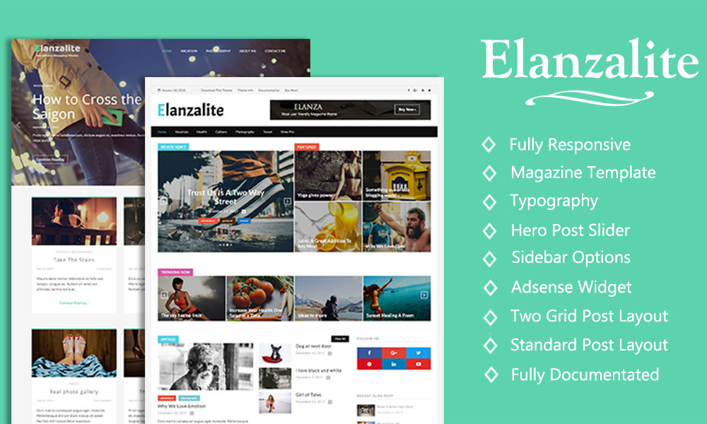 ElanzaLite - WordPress Magazine & Blog Theme