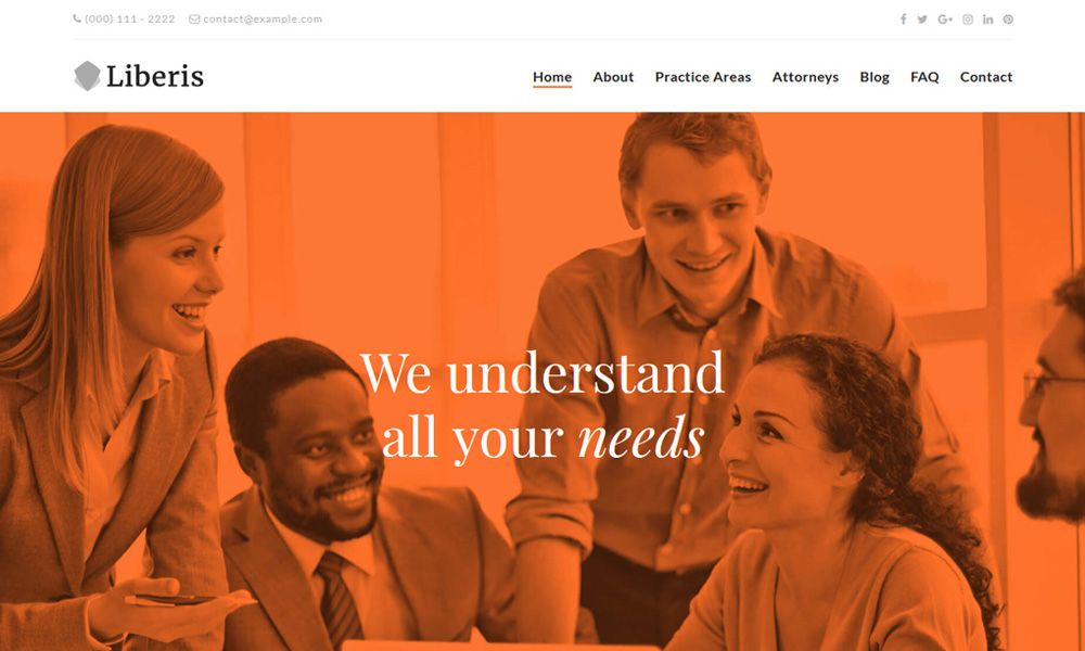 Liberis Attorneys Lawyers WordPress Theme
