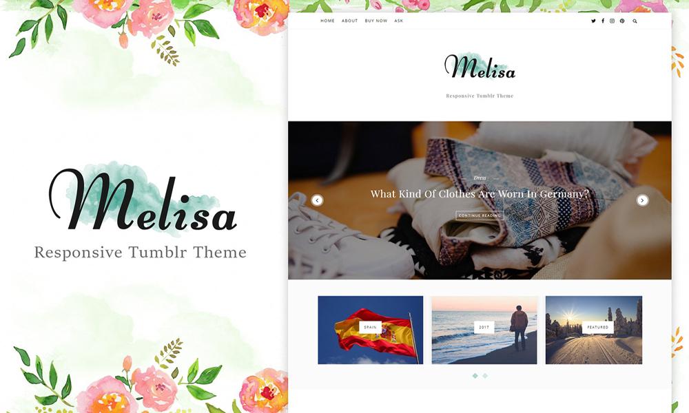 Melisa Responsive Tumblr Theme