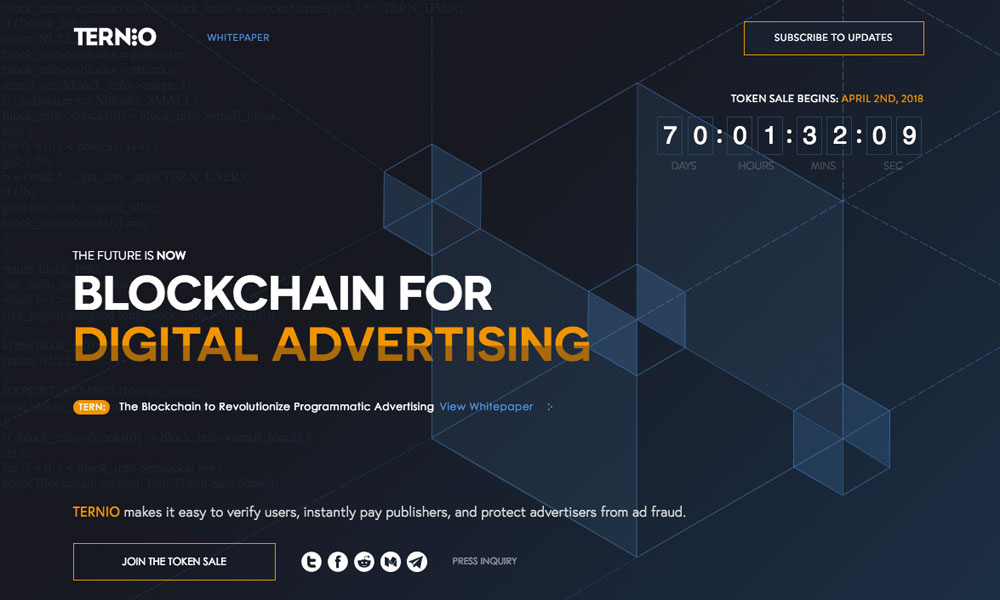 Ternio: Blockchain for Digital Advertising