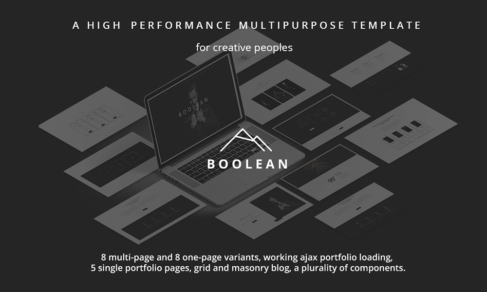 Boolean- Creative Multi-Purpose Template