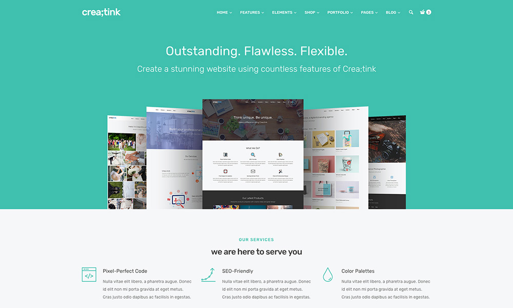Creatink - Multi-Concept Responsive WordPress Theme