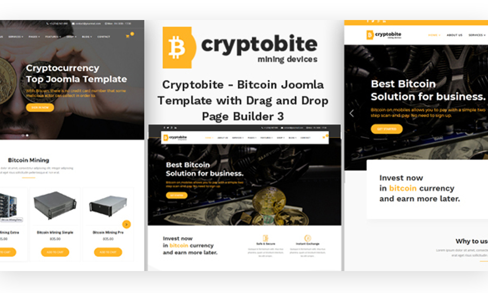Cryptobite - Bitcoin Joomla Template