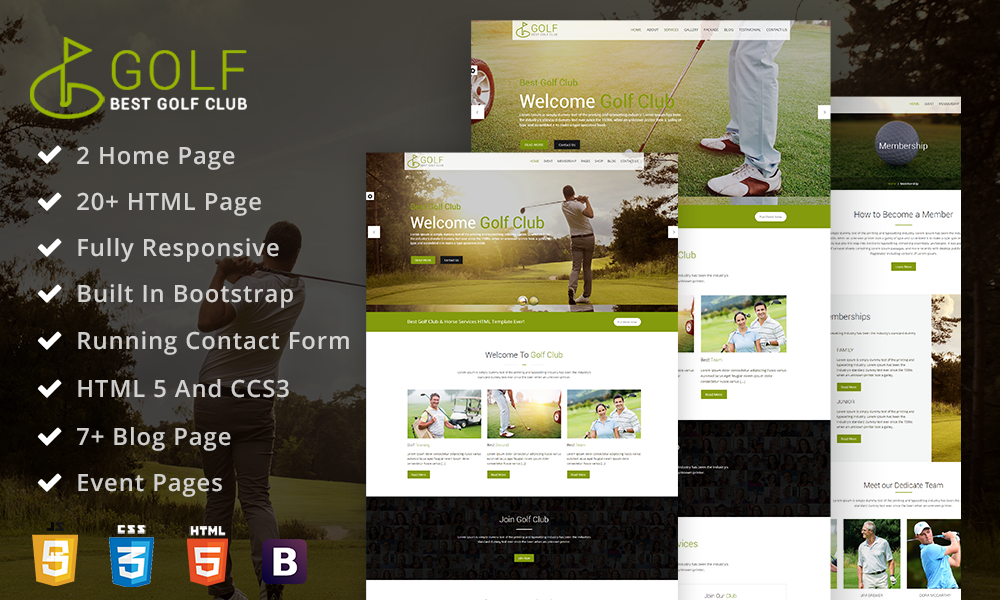 Golf Club - Golf Course Html Template