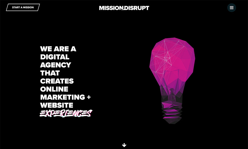Mission Disrupt's Website