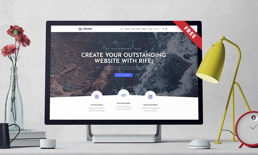 Rife Free – Creative Multipurpose Wordpress Theme