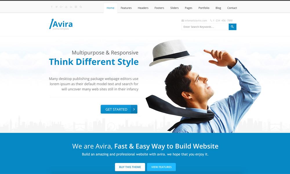 Avira - Responsive Multipurpose Joomla Theme With Page Builder