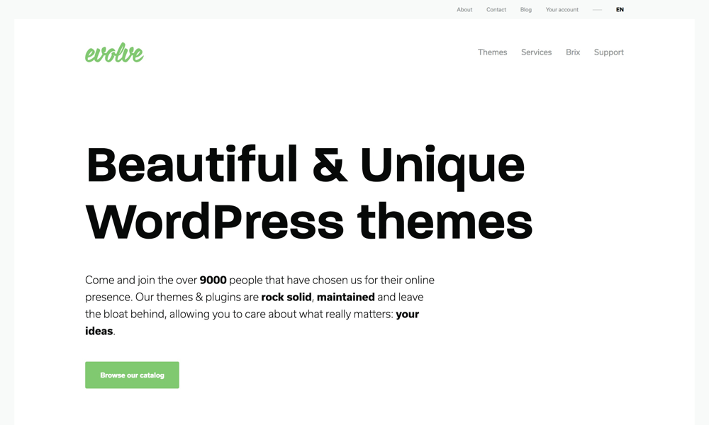 Beautiful & Unique WordPress themes by Evolve