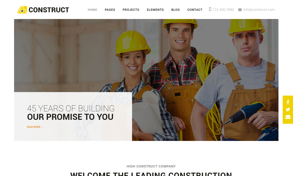 Construct - Construction, Building Multipurpose Company Theme With Page Builder