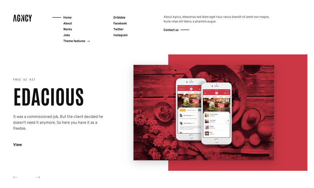Creative & modern portfolio Wordpress theme, Agncy