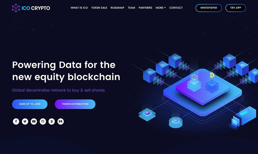 ICO Crypto - ICOs Landing Page