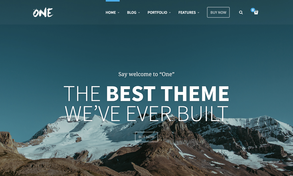 The Creative Multipurpose Portfolio theme, One