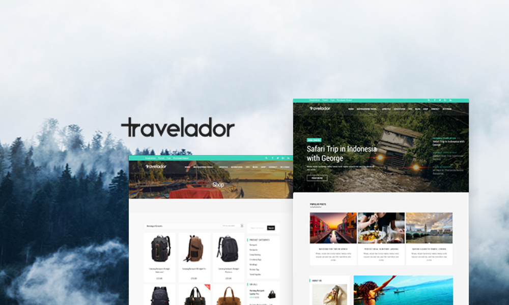 Travelador - WordPress Blog & Shop Theme