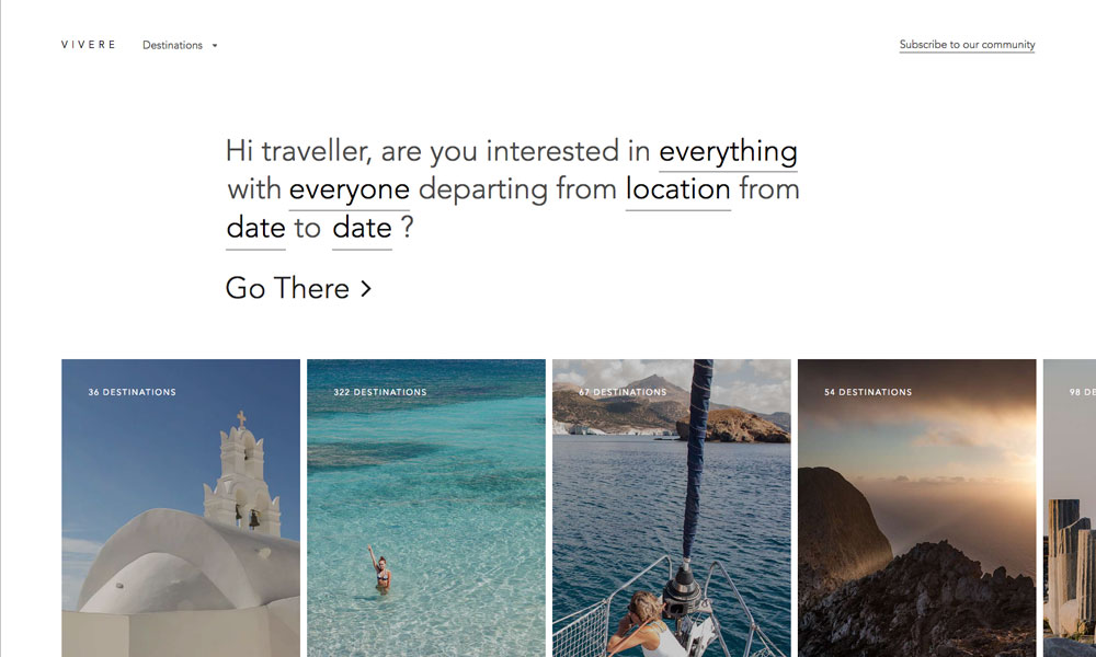 Vivere Travel Guide - Vacation ideas and destinations
