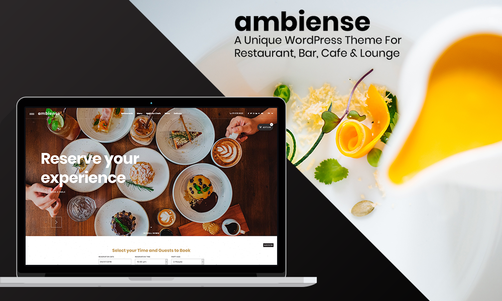 Ambiense - Restaurant & Cafe WordPress Theme