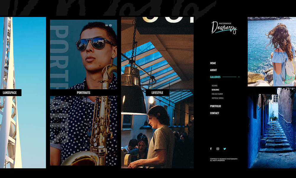 Deamercy - Photography Portfolio WordPress Theme