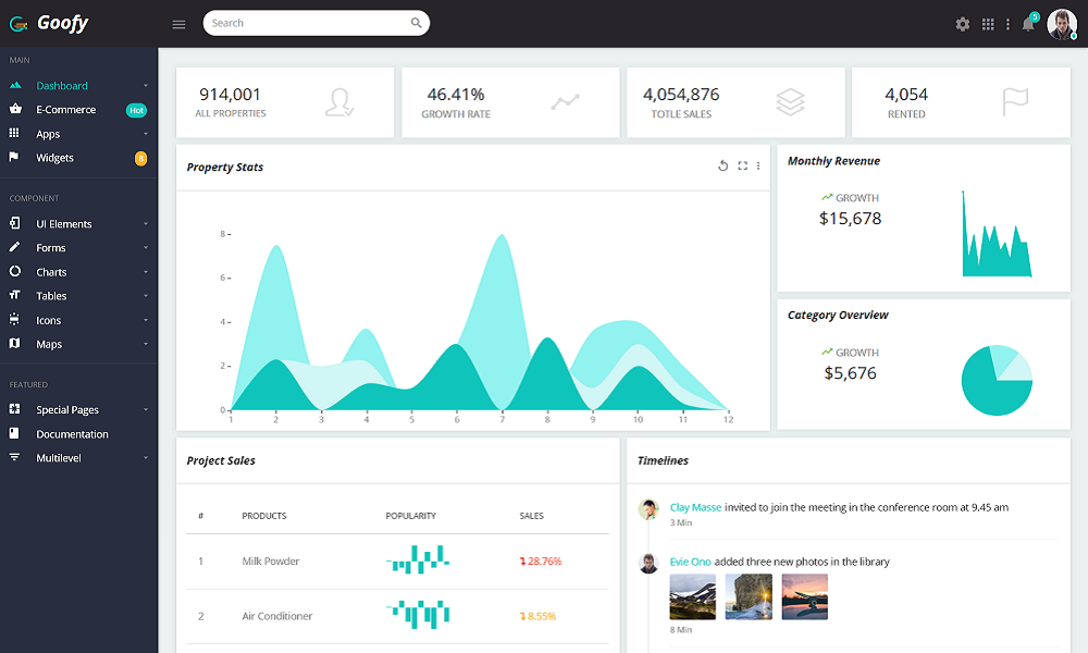 Goofy - Multipurpose Bootstrap Admin Dashboard Template + UI Kit