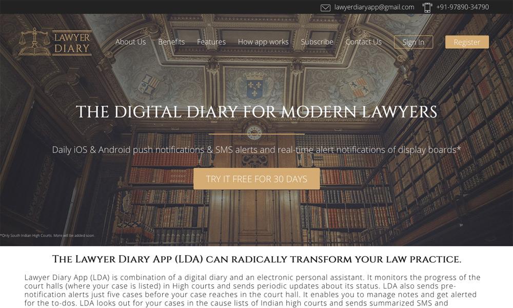 Lawyer Diary App