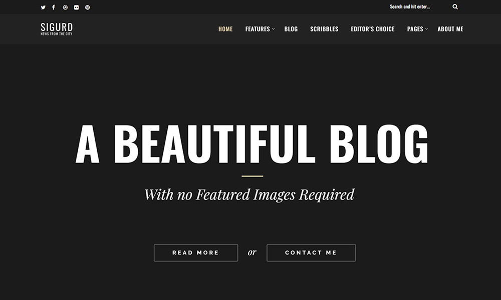 Sigurd – A WordPress Blog For Writers