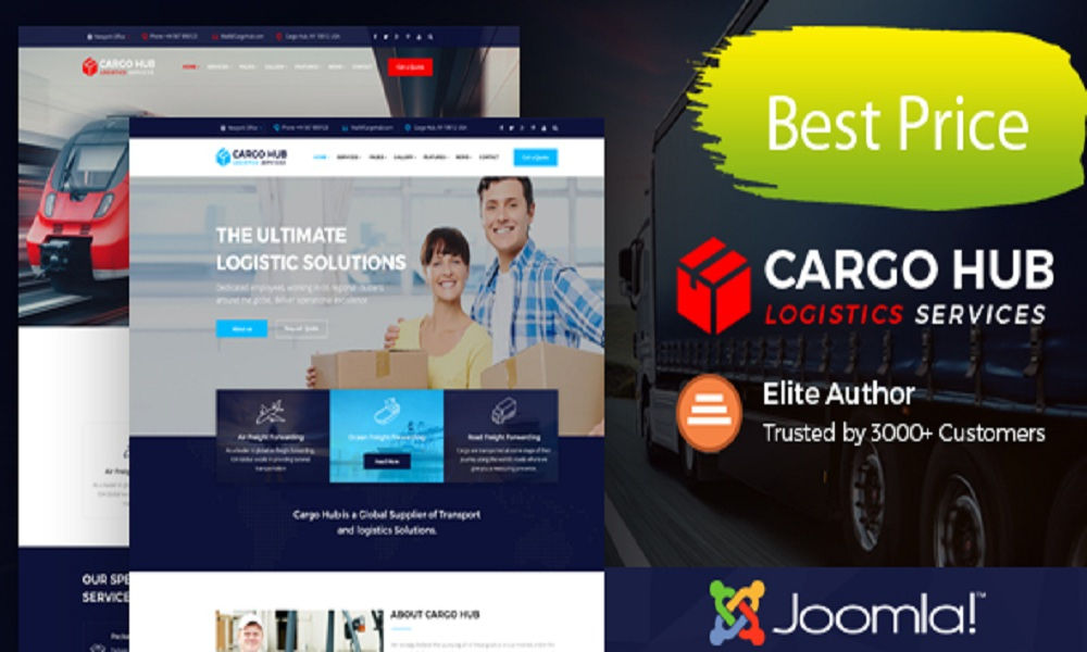 Cargo HUB - Transport Joomla Theme for Transportation, Logistics and Shipping Companies