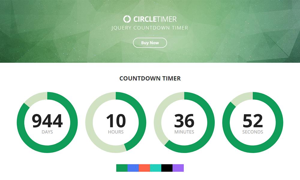 CircleTimer - jQuery Countdown Timer