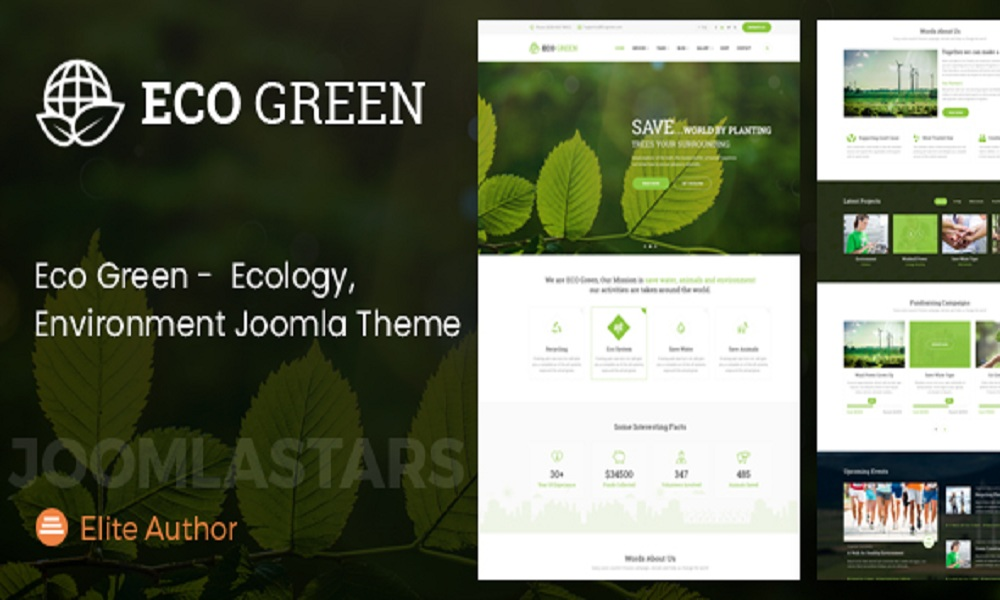 Eco Green - Joomla Theme for Environment, Ecology and Renewable Energy Company