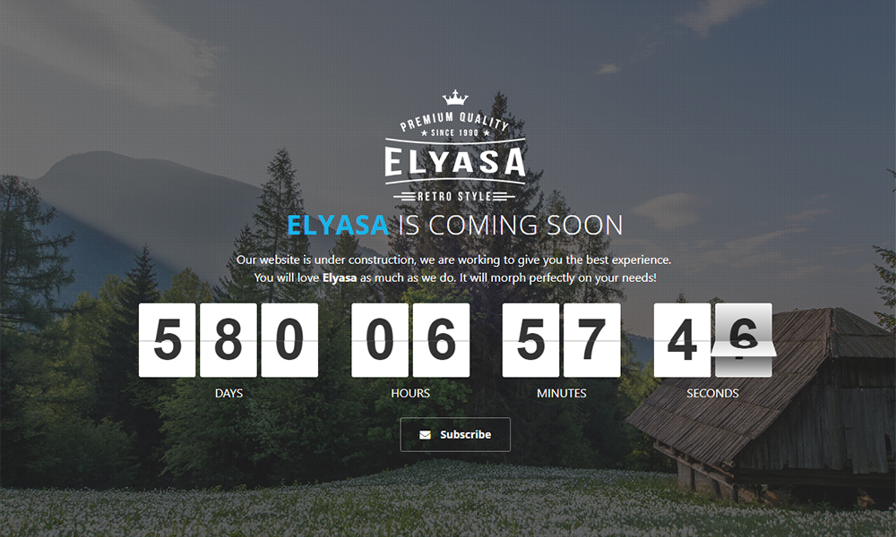 Elyasa - Creative Coming Soon Template