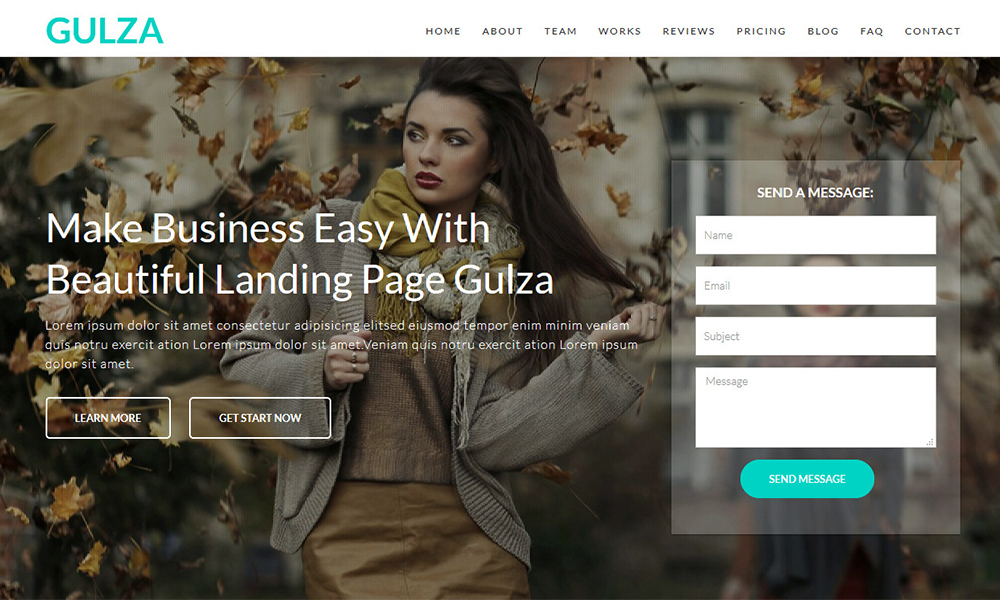 Gulza - Easy Startup Landing Page WordPress Theme