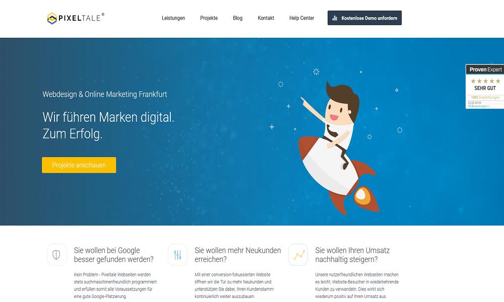Pixeltale Webdesign Agency Frankfurt