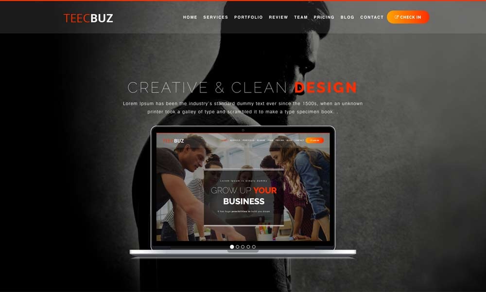 TeecBuz - Business Onepage Multi-Purpose Helix Ultimate Joomla Template