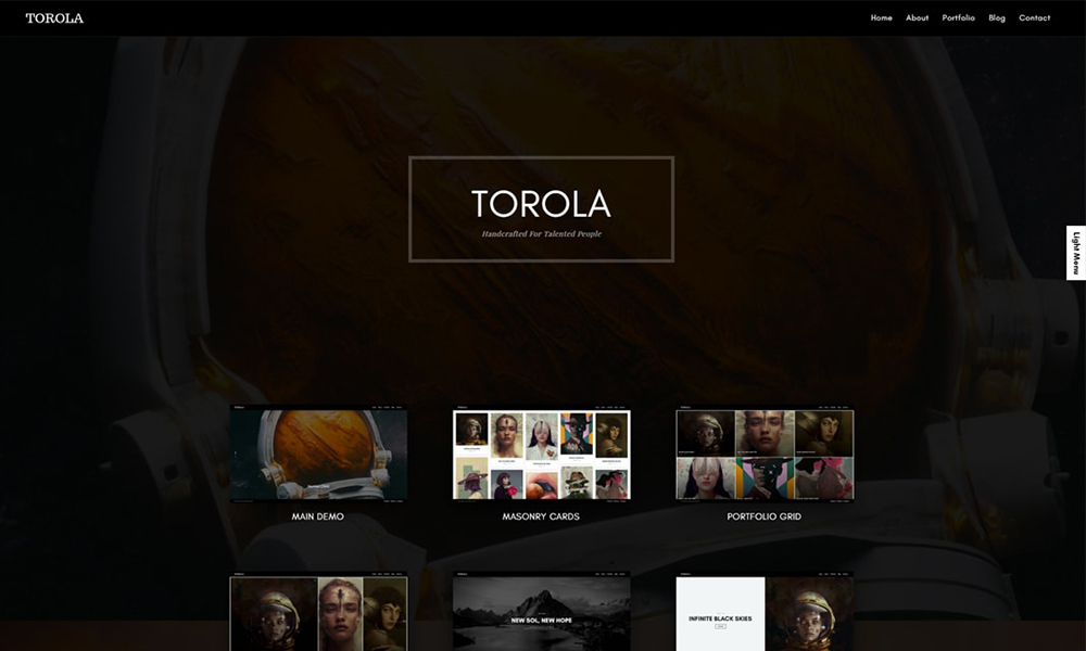 Torola Modern Photography Theme