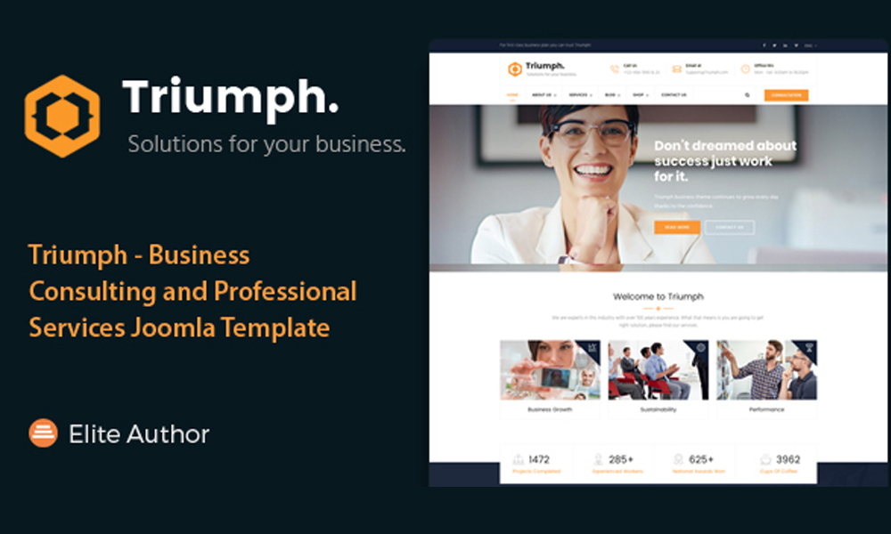 Triumph - Business Consulting and Professional Services Joomla Theme