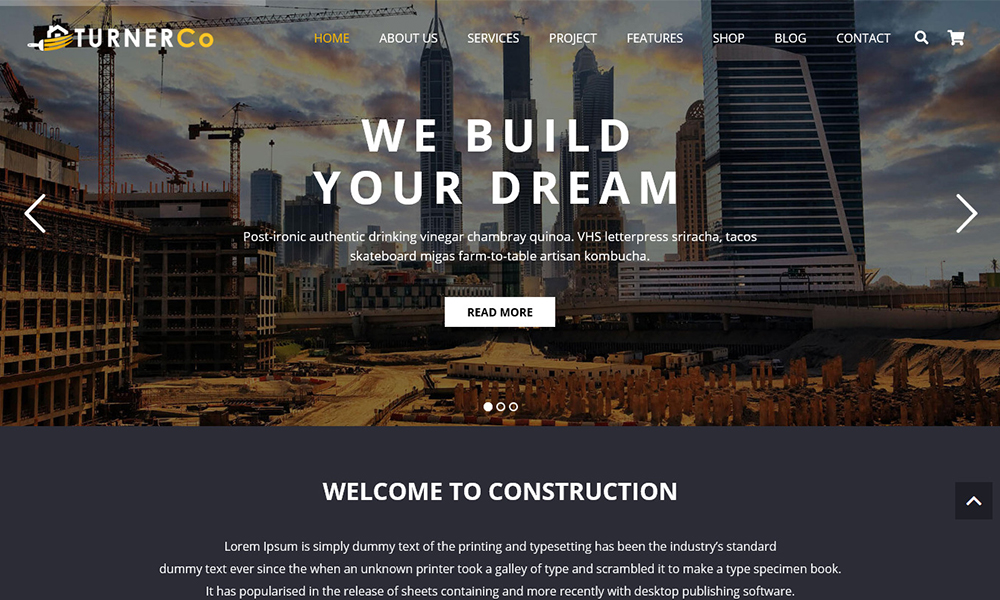 Turner - Construction & Architecture WordPress Theme