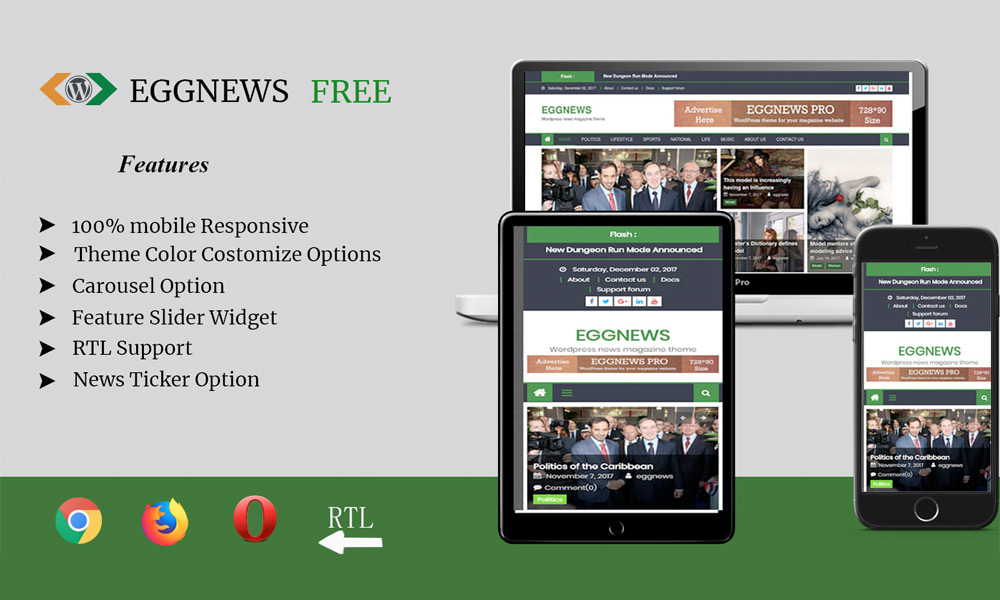 Eggnews - Free Magazine WordPress Theme