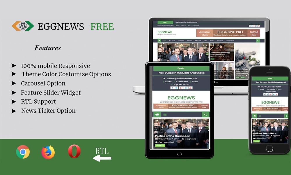 Eggnews - Free Magazine WordPress Theme