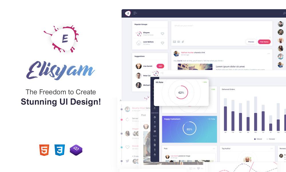 Elisyam | Web App & Admin Dashboard Template