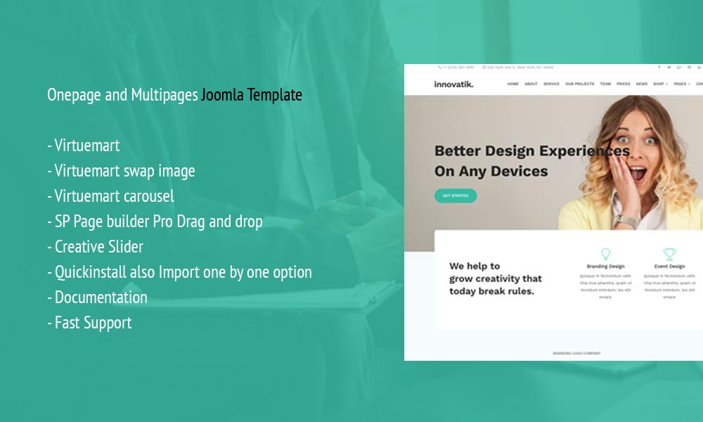 Innovatik - Corporate Joomla Template with Virtuemart