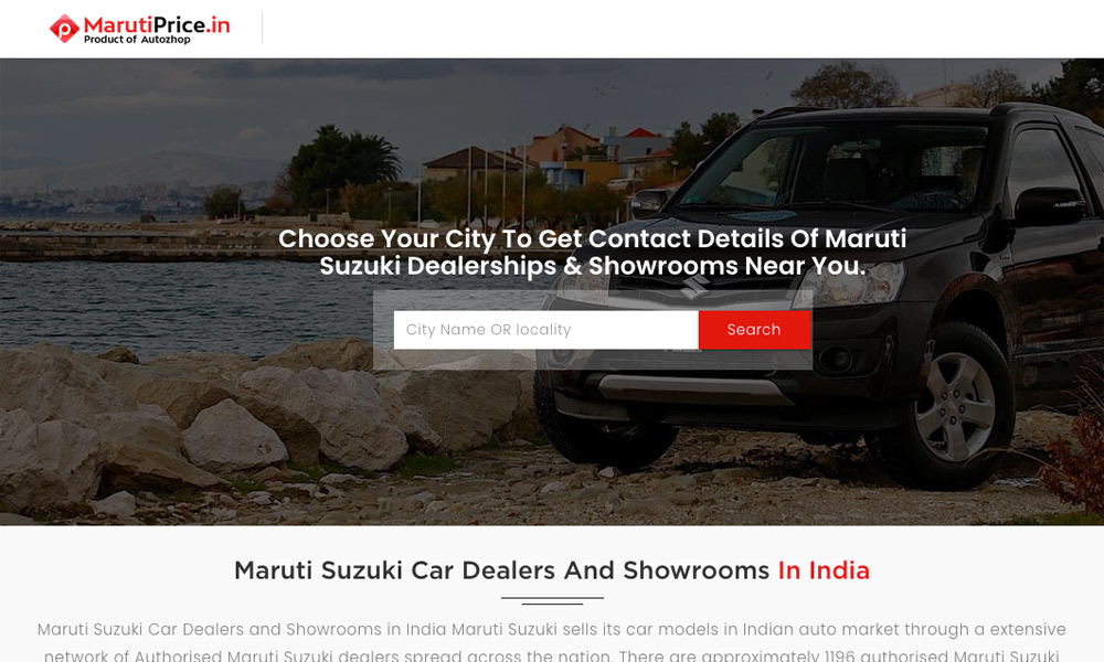 Maruti Suzuki Dealers in India