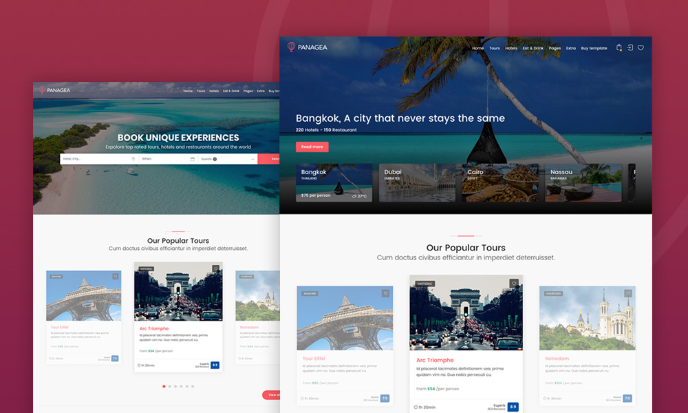 Panagea - Travel and Tours listings template