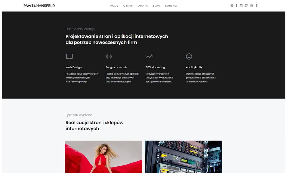 Paweł Mansfeld - web design studio