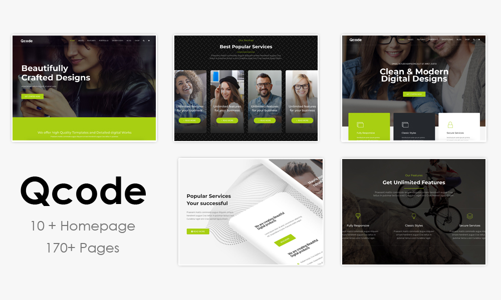 Qcode - Responsive MultiPurpose Joomla Business Theme With Page Builder