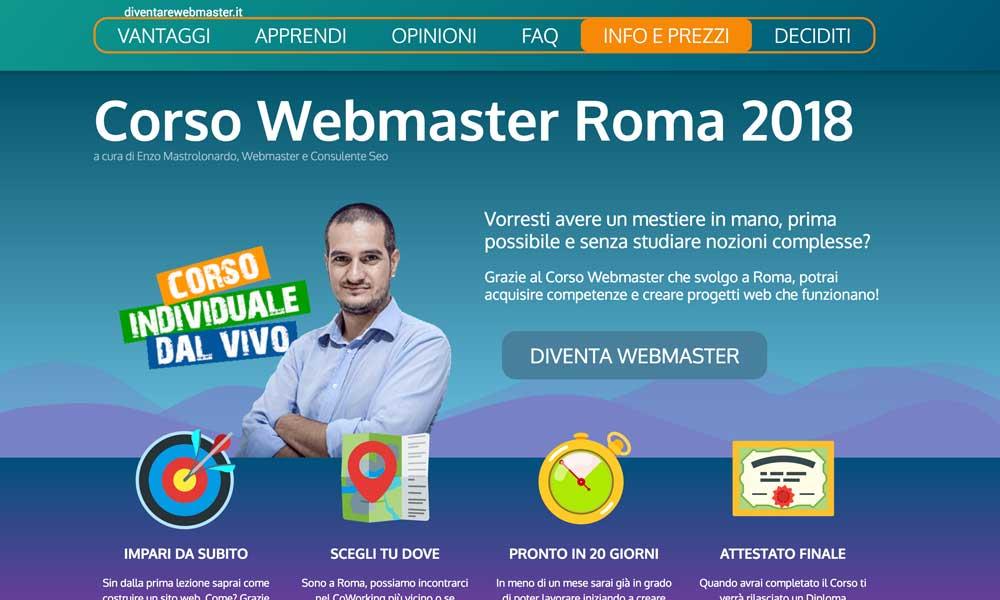 Corso Webmaster Roma
