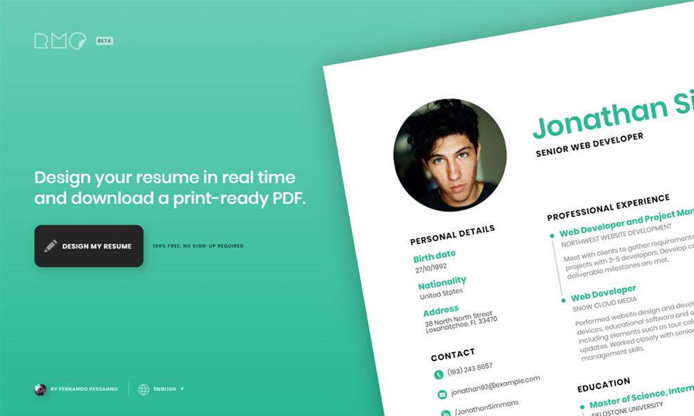 RMO - ResumeMaker.Online
